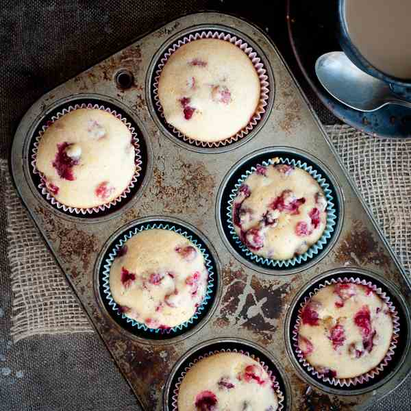 Super Easy Cranberry Muffins
