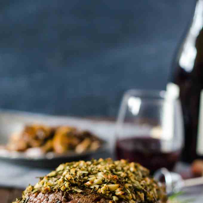 Rosemary Garlic Rib Eye Roast