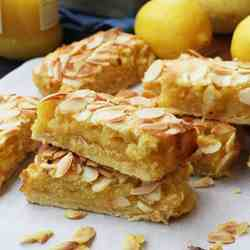 lemon Bakewell slices