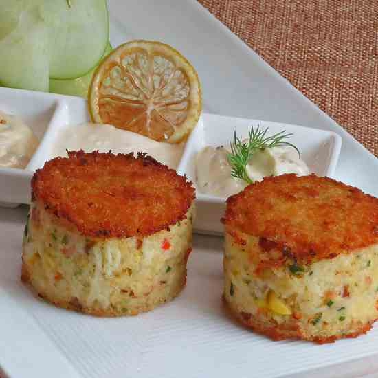 Dungeness Crab Cake Towers