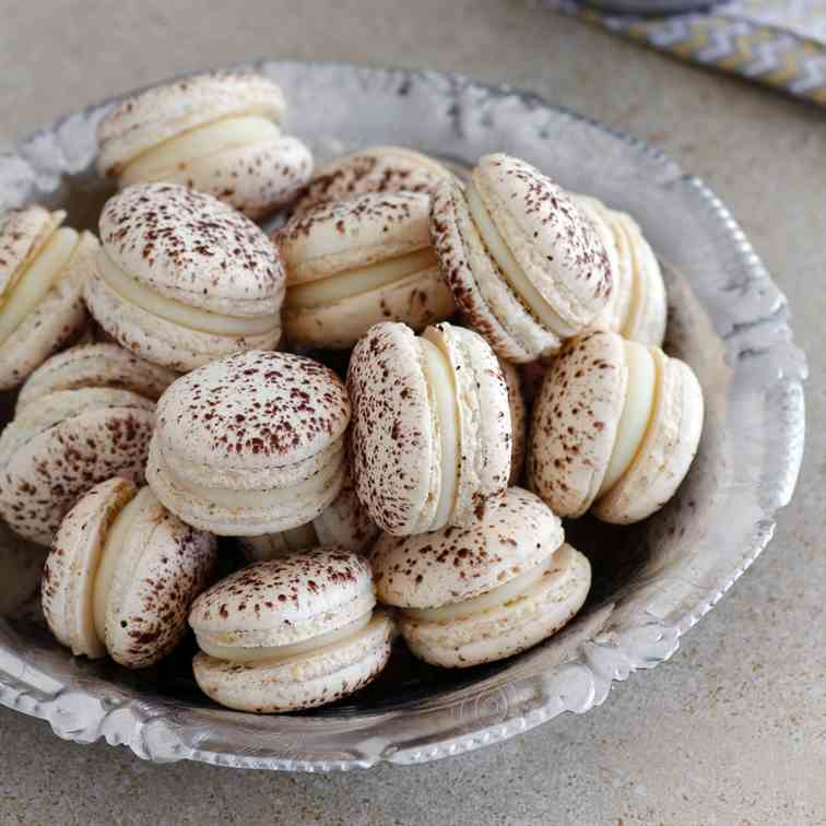 White Chocolate Coconut Macarons
