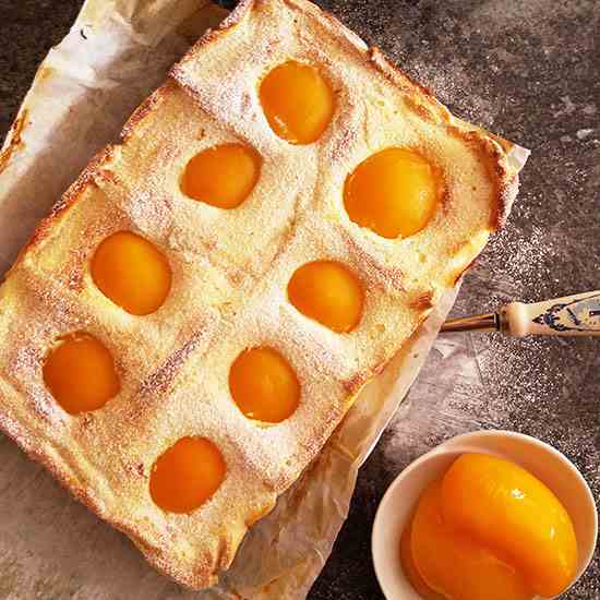Greek Yogurt and Peach Tart