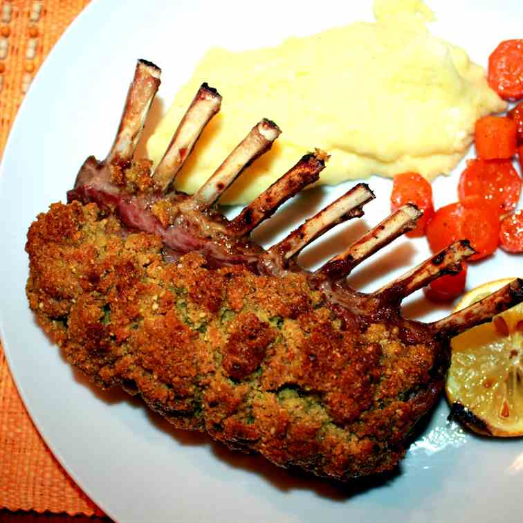 Lamb Rack with Pistachio Crust
