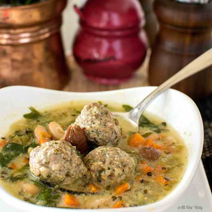 Quick Italian Wedding Soup with Meatballs