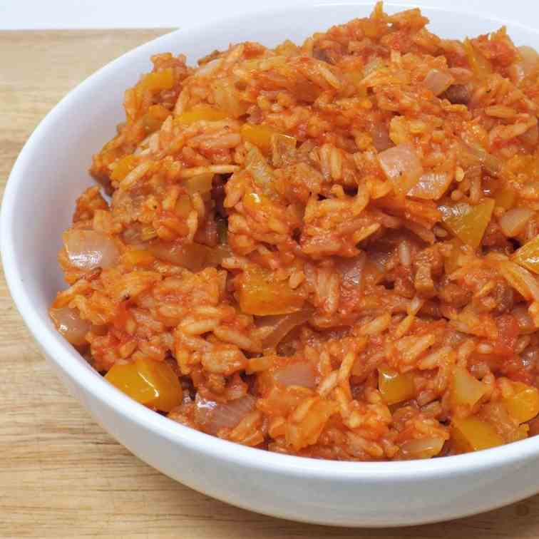 Savannah Red Rice with Pork Belly