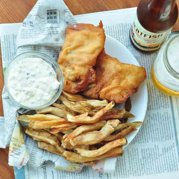 Beer Battered {Pub Style} Fish and Chips