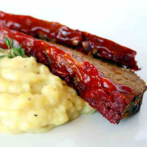 Turkey Meatloaf & Roasted Parsnip Puree