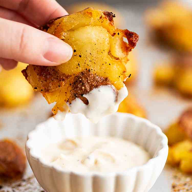 Crispy Smashed Red Potatoes
