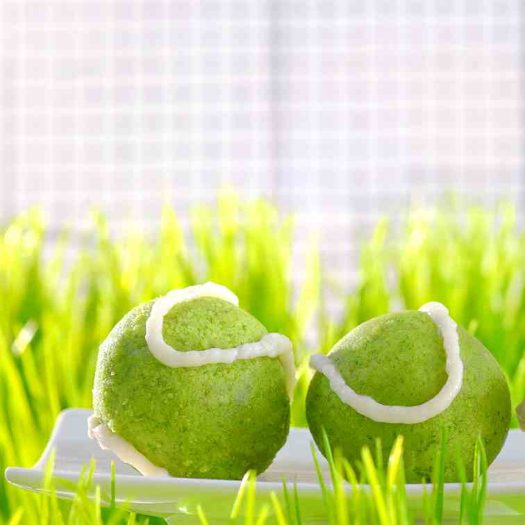 Tennis Ball Spinach Cakes