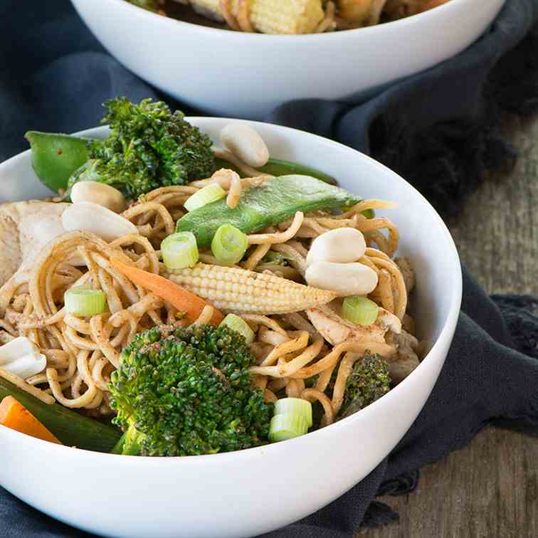 Peanut Chicken Noodles
