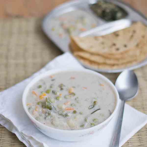 South Indian White Vegetable Korma
