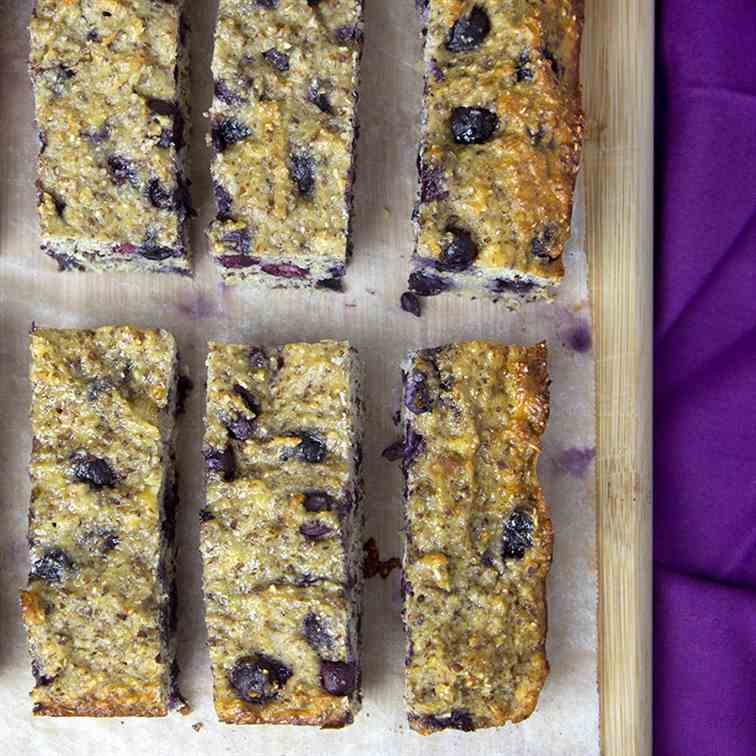 Banana & Blueberry Protein Bars
