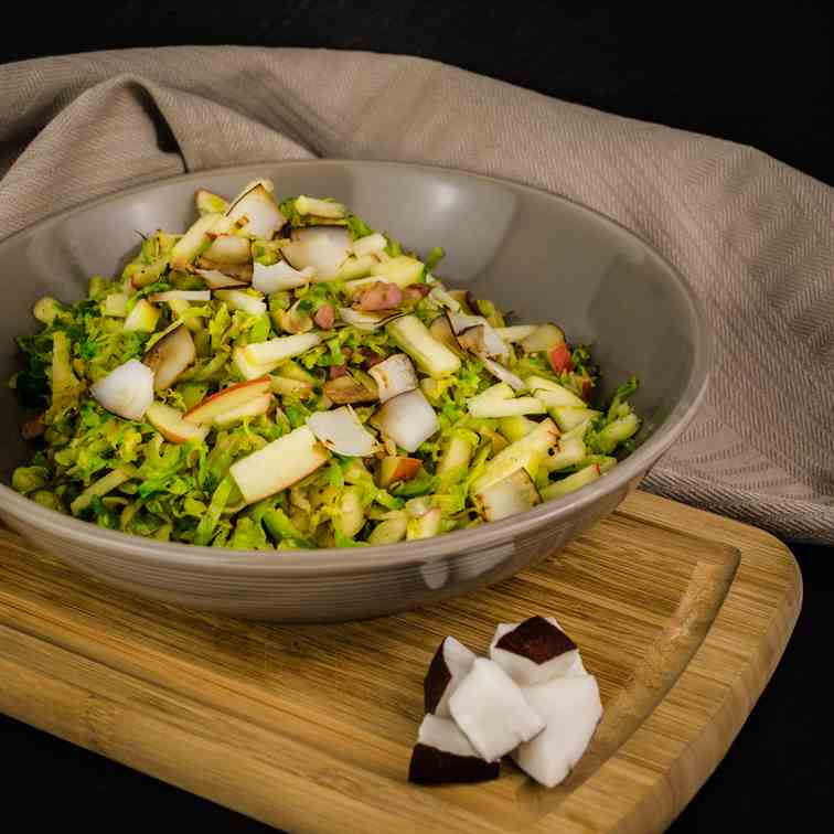 Exotic Brussels sprouts with coconut