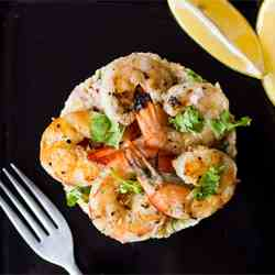 Chilli & Garlic Prawns with Couscous Salad