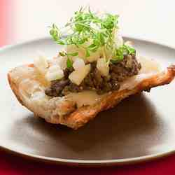 Crostini with Lentils Du Puy