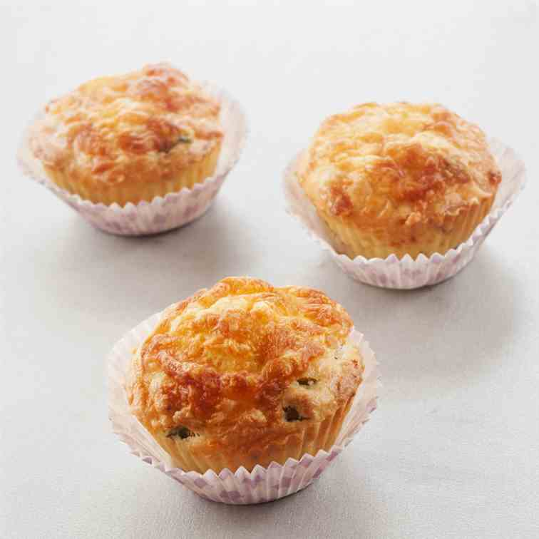 Airfryer Cheese - Bacon Muffins Recipe