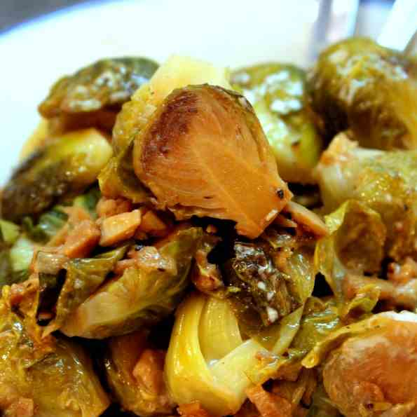 Brussels Sprout with Garlic
