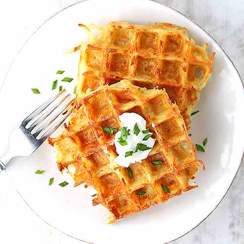 Potato Cheddar Waffles