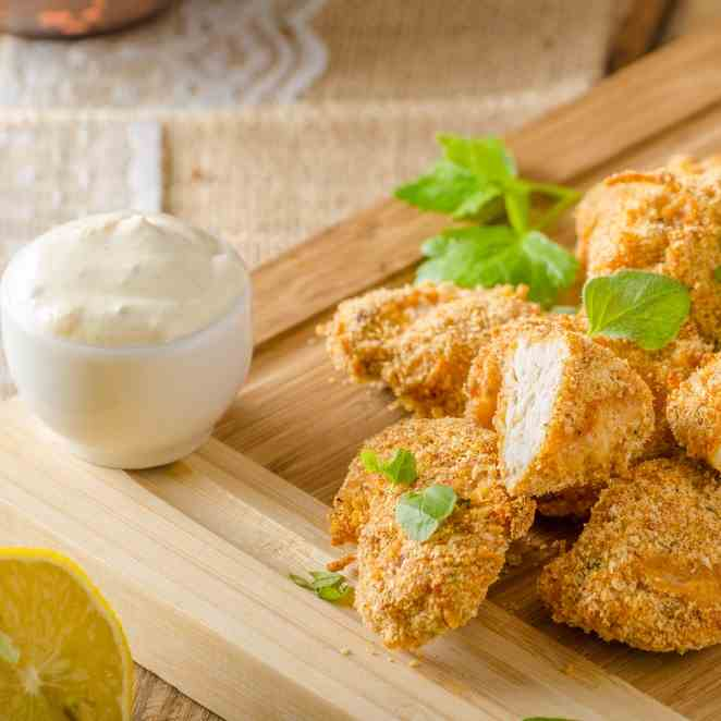 The Mediterranean Airfryer Breaded Chicken