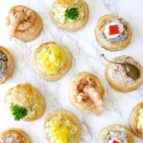 Retro Vol-au-Vent Party Appetizers
