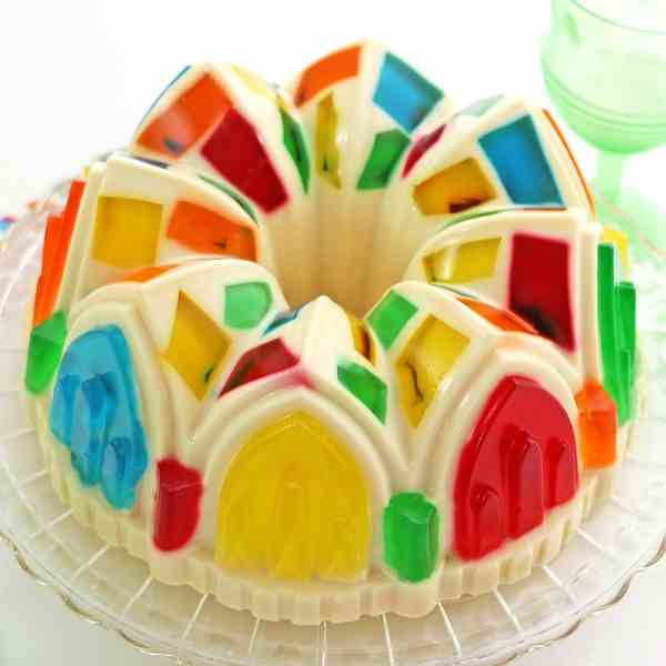 Colorful Cathedral Window Jello