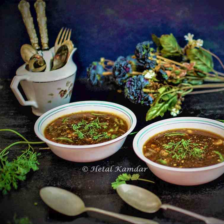 Restaurant style Hot - Sour vegetable soup