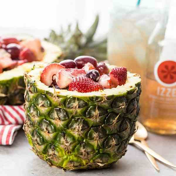 Fruit Salad in Pineapple Cups