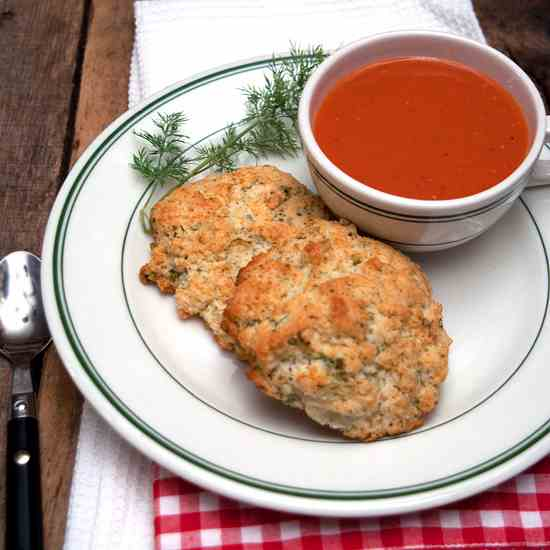 Herbed Drop Biscuits