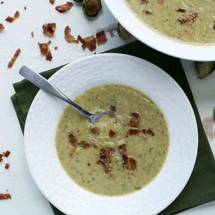 Roasted Brussels Sprouts Soup