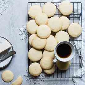 Whipped Gluten Free Shortbread Cookies