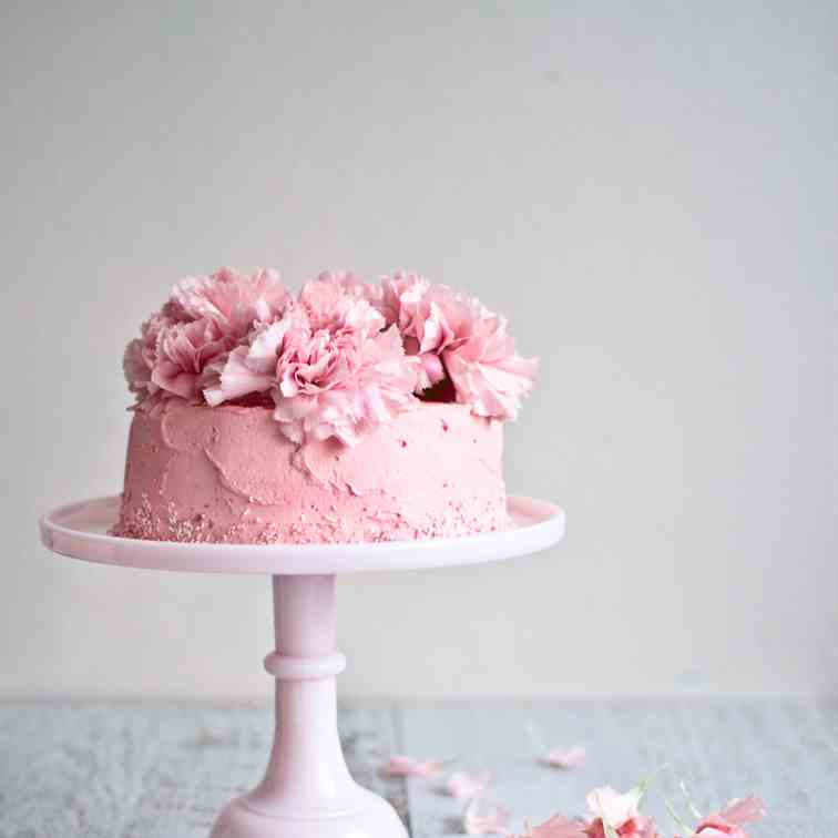 Rose - Strawberry Chiffon Cake