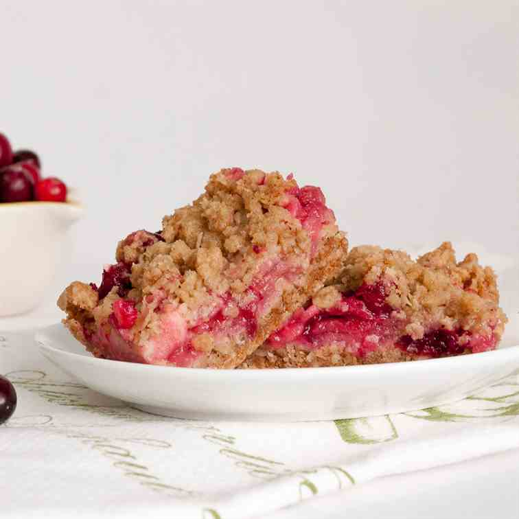 Cranberry Apple Crumbles Squares