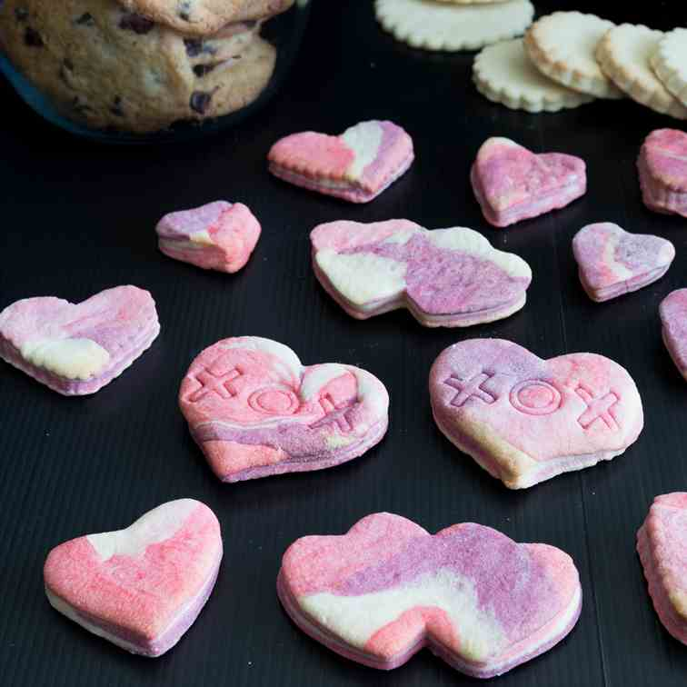 Marbled Sugar Cookies, Valentine Hearts