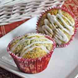 Poppy Seed, Peard and Lemon Muffins