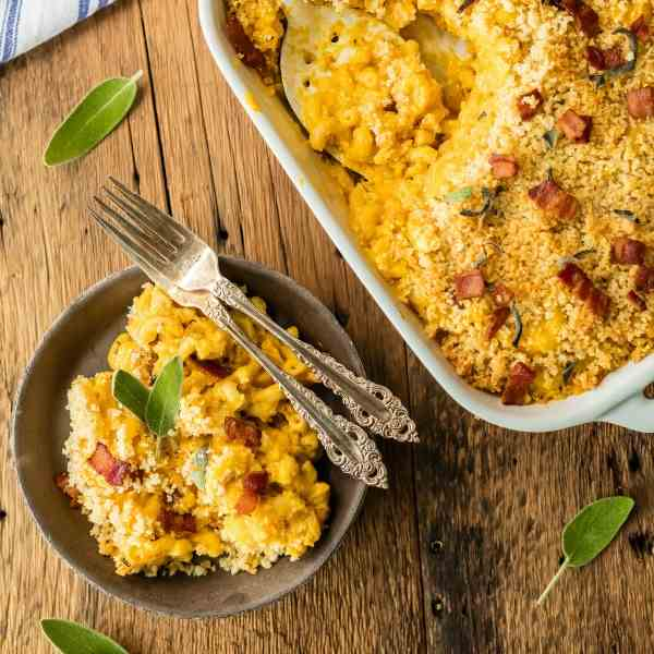 Pumpkin Bacon Mac - Cheese