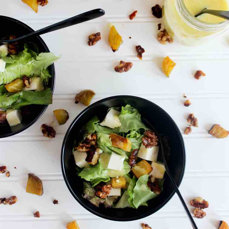 Golden Beet and Walnut Salad