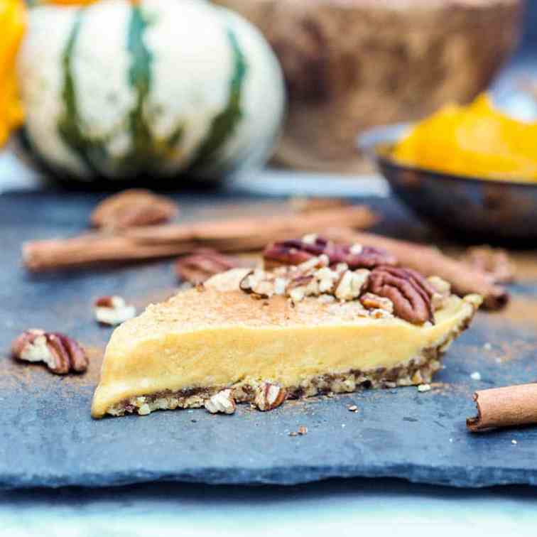 Vegan No Bake Pumpkin Pie