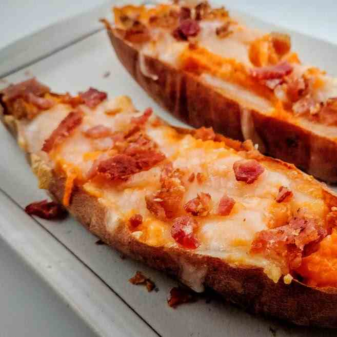 Cheesy Sweet Potato
