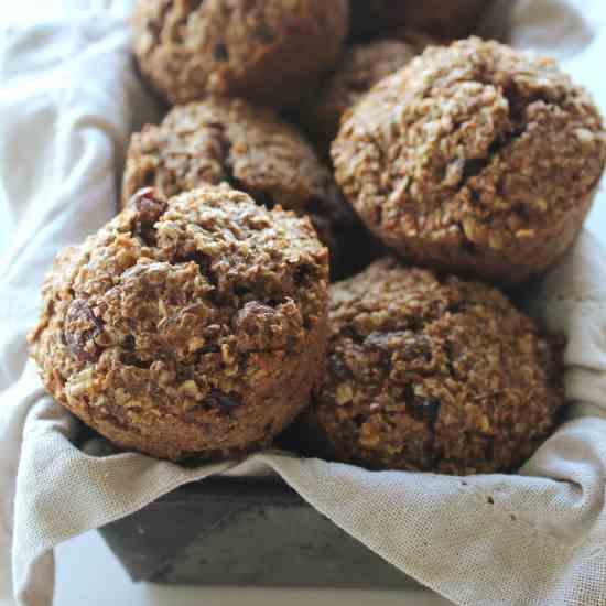 Sugar And Dairy Free Raisin Bran Muffins