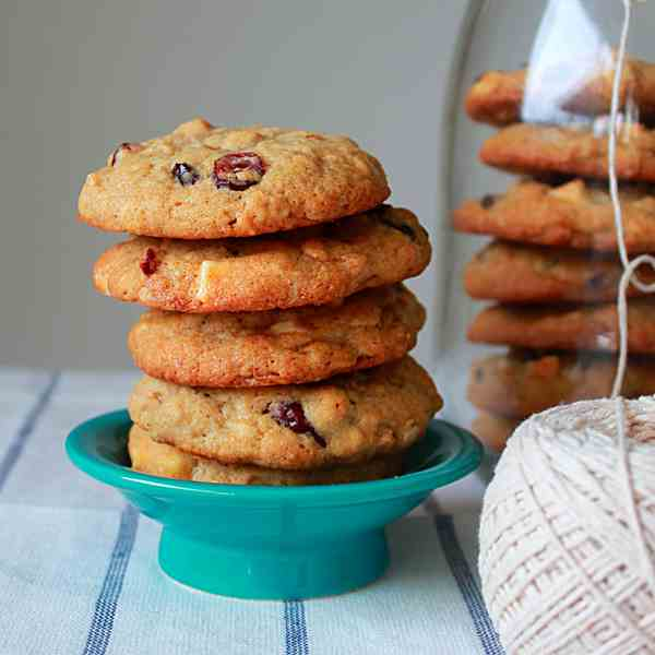 Dried cranberry white chocolate cookies