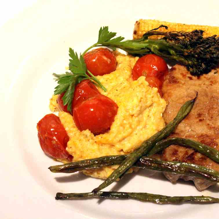 Ticinese Whole Wheat Polenta with roasted