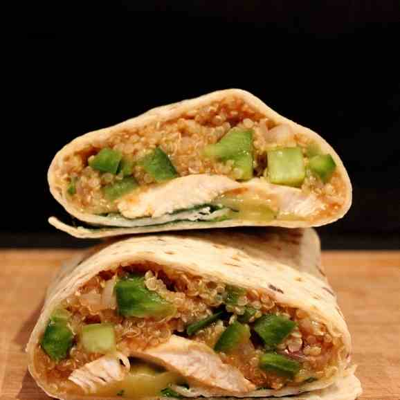 Peri Peri Chicken and Quinoa Wraps