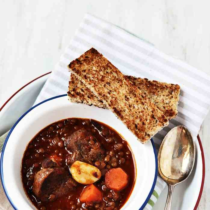 Harissa and Rosemary Beef Stew