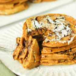 Pumpkin Chocolate Swirl Pancakes