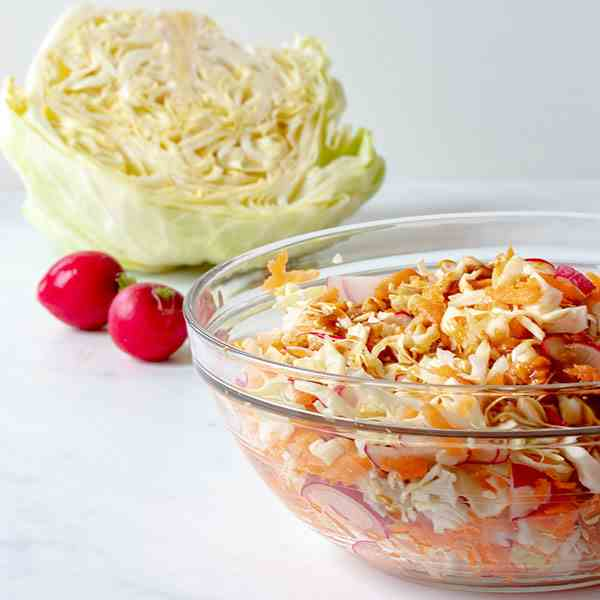 Cabbage Salad and Teriyaki Dressing
