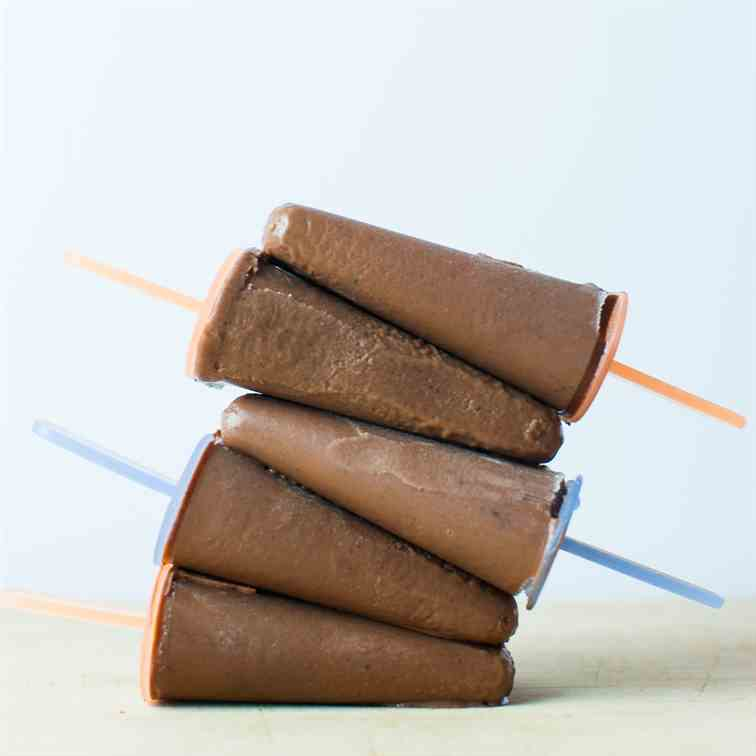 wholesome homemade fudgesicles
