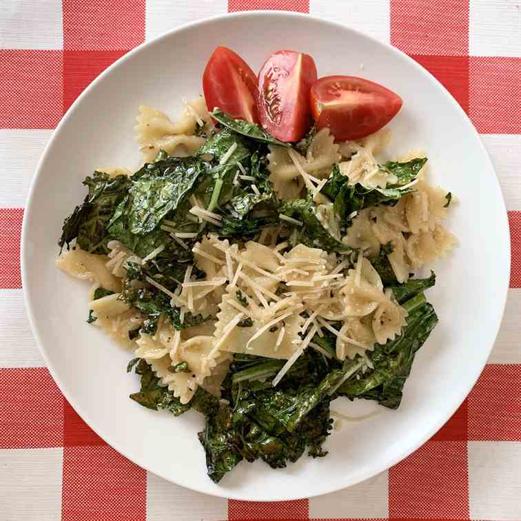 Grilled Caesar pasta Salad with Kale