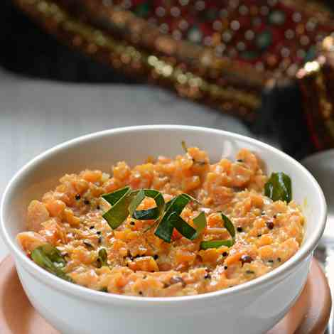 Carrot pachadi-Carrot in Yogurt sauce