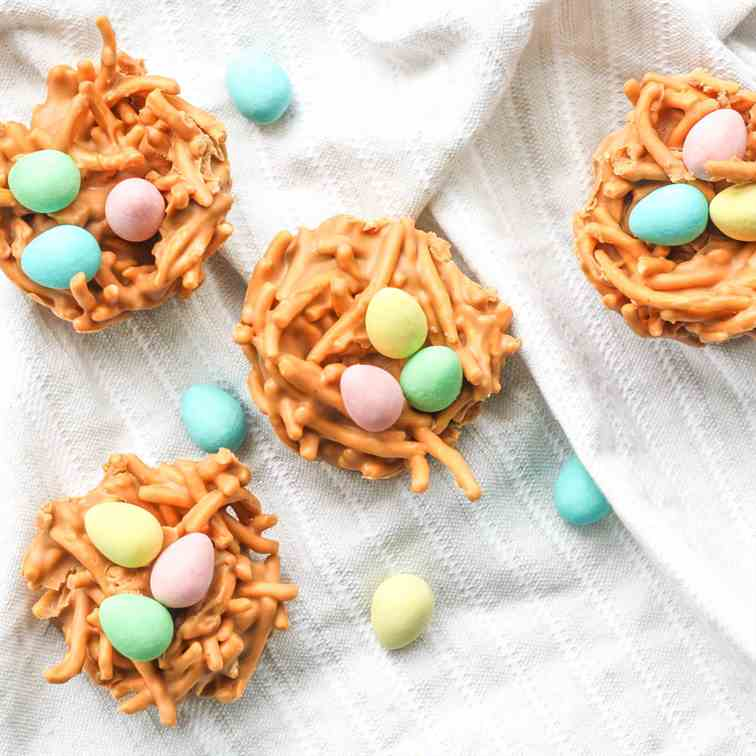 No Bake Easter Bird's Nest Cookies