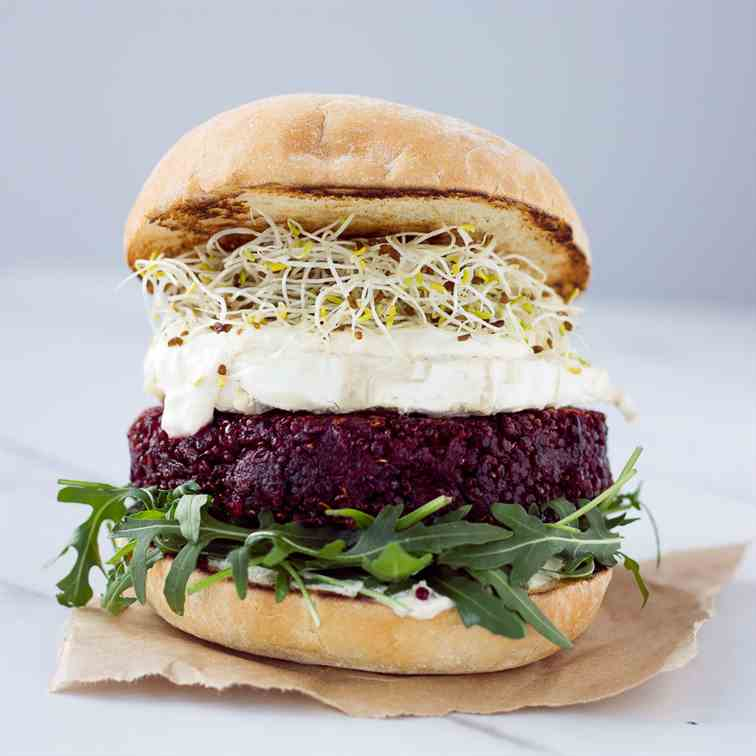Beet and Quinoa Burger